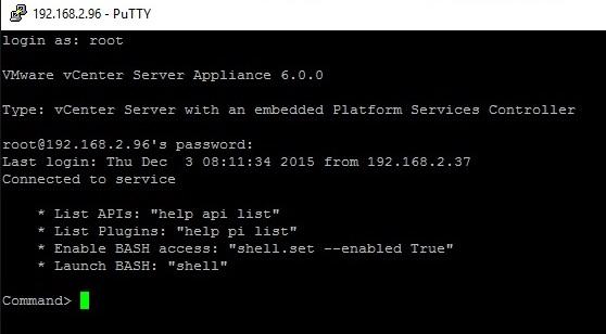 connect_to_vcenter_via_SSH