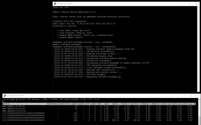 install_software_packages_upgrading_software_packages_performance_iscsi_commands