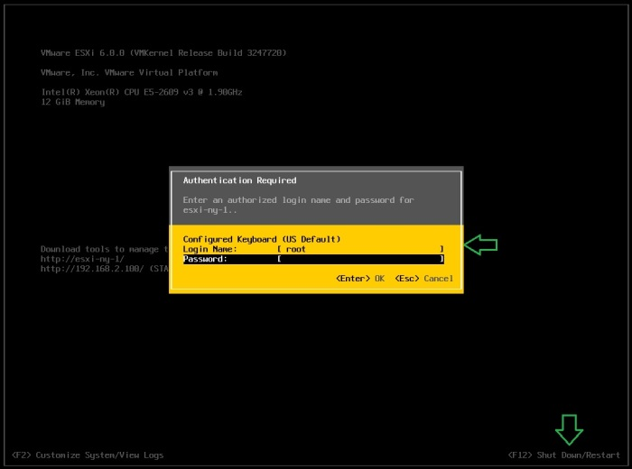 006_ShutDown_ESXi_host_via_DCUI
