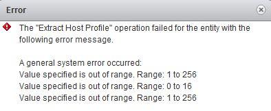 HostProfile error