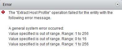 HostProfile error