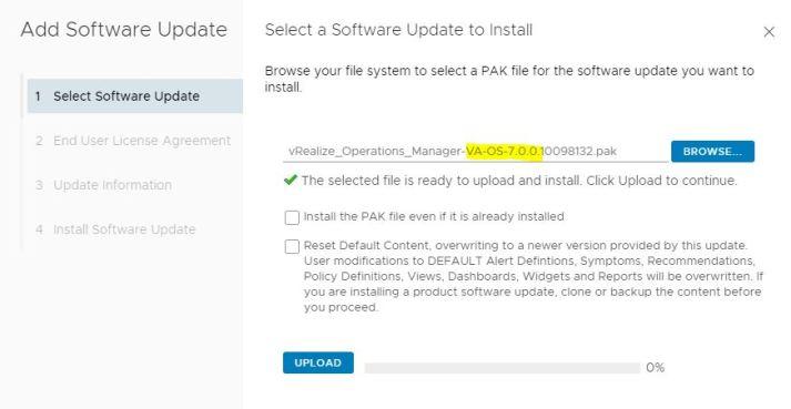 VMware vRealize upgrde 6.7 to 7.0